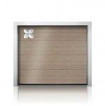 Przestrzenne motywy z tworzywa sztucznego podkreślają estetykę bramy garażowej